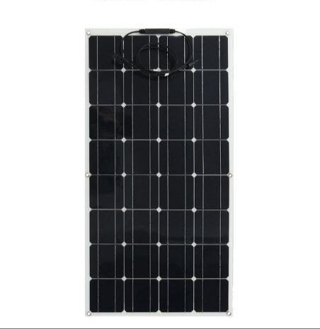 Semi flexible bending 100 w 100 watt lightweight solar panels to the 12 v battery manufactured