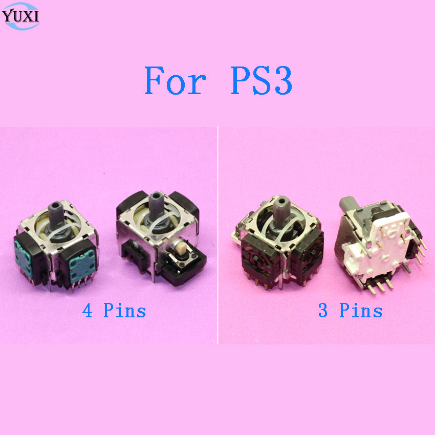 YuXi 50pcs Replacement part for Sony 3D Analog Joystick Axis Sensor Module for Playstation 3 PS3 Controller 3 Pins 4 Pins