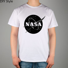Nasa Mark Of Male t-shirt short-sleeve Lycra Cotton Top New Arrival Fashion Brand T Shirt For Men