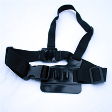 Adjustable Light Weight 3 Points Easy Elastic Body Chest Strap Mount Belt For Sport Camera GoPro
