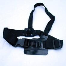 Luz ajustable Peso 3 Puntos Fácil Elástico Cuerpo Pectoral Monte Cinturón para la cámara del deporte gopro hd hero 4 3 + 2 1 sj4000 gp85