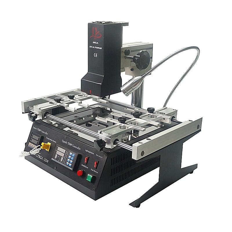 Infrared BGA Soldering Machine IR6500 IR Rework Reballing Station with Preheat Area 240*200mm and 6pcs BGA Jigs achi ir6500 infrared bga soldering rework station flux