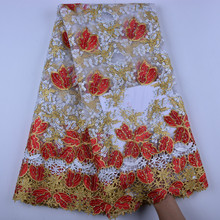 2019 Latest French Lace Fabric High Quality Tulle African Laces Fabric For Wedding Nigerian Tulle Lace Material A1386