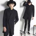 2017 Harajuku Fashion Oblique Designer Slim Fit Mens Gothic Coats Long Black Trench Coat Men Jacket Windbreaker Cool Overcoat