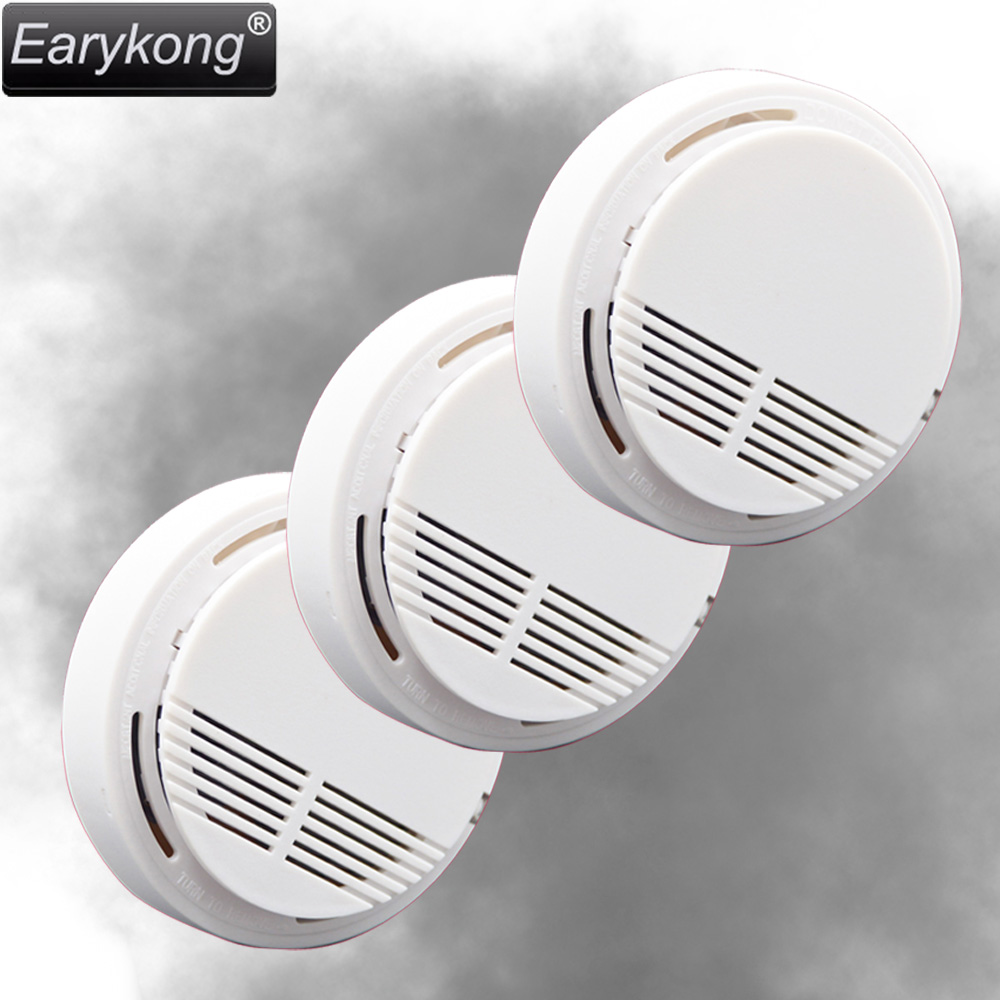 New Earykong 433MHz Wireless Smoke Detector 3pcs/lot, Fire Alarm Sensor for Indoor Home Safety Garden Security, high quality wireless home safety smoke detector fire alarm sensor md 2105r with photoelectric sensor for st iiib st vgt etc