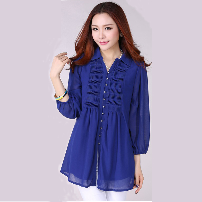 Long Shirt Loose Casual Blouses & shirts Women Big Size 6xl Plus ...