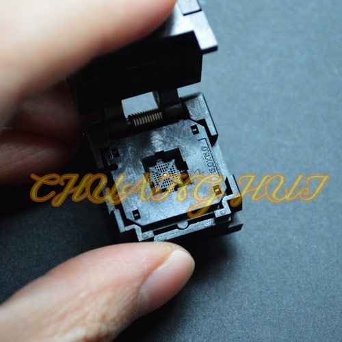 IC TEST Clamshell QFN36 test socket WSON36 DFN36 MLF36 IC SOCKET Foot spacing=0.4mm Size=5mmx5mm