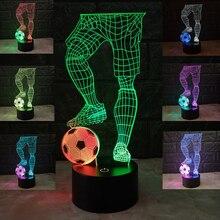 3D иллюзия Led футбольный стол лампы футбол настольная лампа 7 цветов USB Chrage ночник для стола украшения спальни