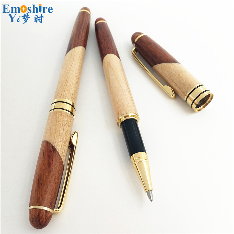 Emoshire Factory direct sales mahogany pieces of wood signature pen suits wooden pen box creative gift customization (4)