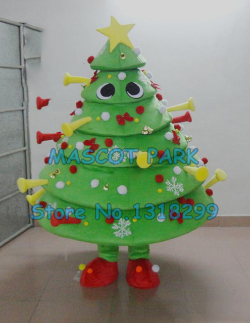 mascot newest customizable christmas tree mascot costume cutie christmas decorations carnival fancy dress kits suit