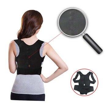 corrector de postura mujer con velcro, sin tirantes, faja espalda recta