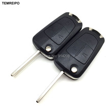 TEMREIPO 10pcs/lot Car key for Opel Vectra C Astra H Corsa D Zafira replacement remote control key case fob