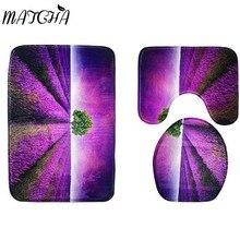 Matcha Shop Lavendel Druck 3 Teil/satz Badezimmermatte Wc Abdeckung Pad  Zubehör Wildleder Speicher Schwamm Antirutschmatte
