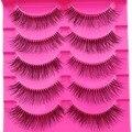 Moda 5 pares de escasa pestañas beauty maquillaje natural a largo falso falso pestañas pestañas de la luz suave