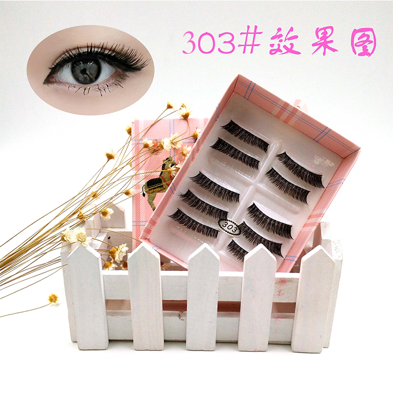YANYAXI 100% Hand Made Popular 5 Pairs Long Thick False Eyelashes Soft Fake Eye Lashes Extension Make Up Tool