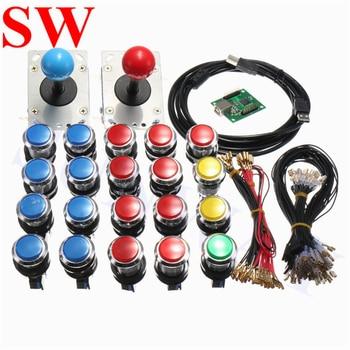 2 Player DIY Arcade Parts PC To Jamma Arcade Control Board Bundles Kit With Joystick Pushbutton USB Encoder DIY Kit