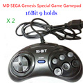 2pcs MD SEGA Gamepads 16bit  Sega Genesis Game controller 9 Holes Sega Joypad high quality good price
