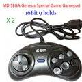 2 шт. MD SEGA Игровые Манипуляторы Геймпад Sega 16bit Sega Genesis Игровой контроллер 9 Отверстия высокое качество хорошее цена