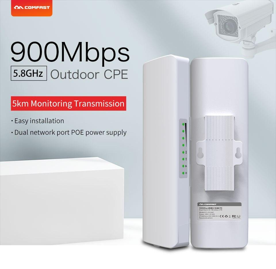 Portée de 5 KM 900 Mbps 5.8G Point d'accès extérieur 12dBi répéteur d'antenne WI-FI pont sans fil CPE Nanostation routeur wifi pour IP cam