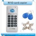 Atualizado Handheld 5 freqüência RFID Copiadora/Duplicador de cartão de controle de acesso/Cloner ID/IC + 5 pcs 125 KHZ + 5 pcs 13.56 MHZ