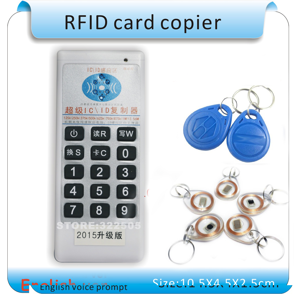 Updated Handheld 5 frequency RFID Copier /access control card Duplicator /Cloner ID/IC + 5pcs 125KHZ +5pcs 13.56MHZ 5pcs ads1232ipwr ads1232 tssop24 ic