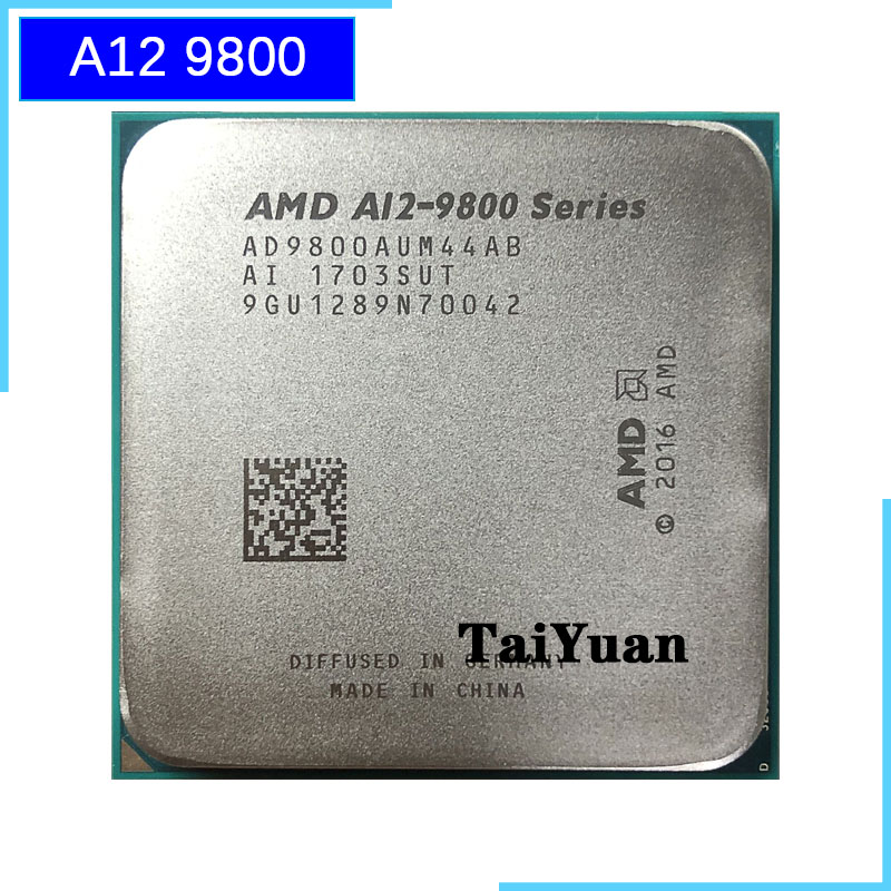 AMD APU A12-9800 3.8GHz 4-Core 8-GPU 2M Processor Socket AM4 CPU 65W