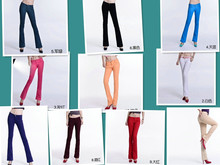 2017 Autumn high waist jeans women Casual Candy Color Pencil Legging Slim Fit Micro horn Pants Sexy Trousers jeans for Women