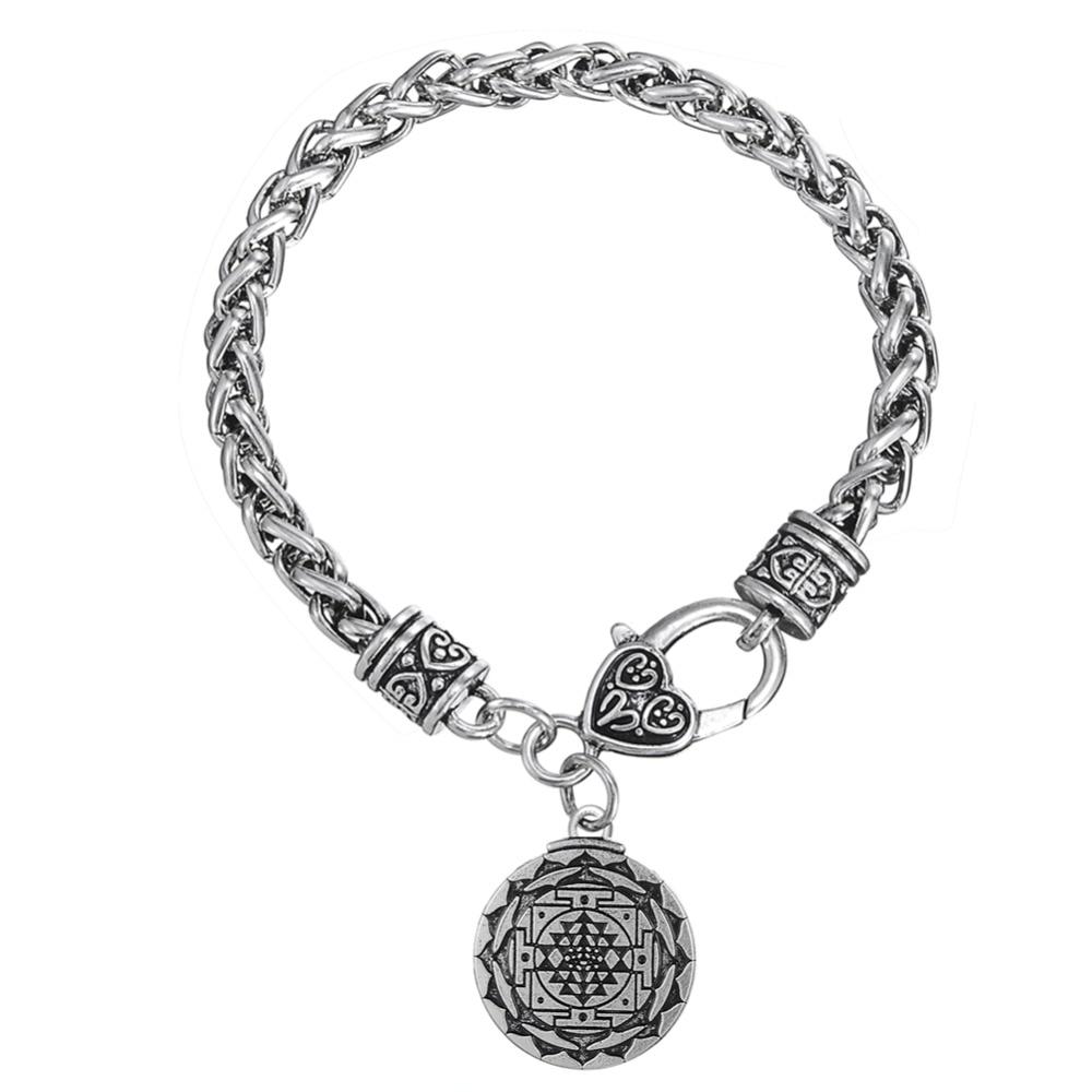 US $4 99 |Aliexpress com : Buy Skyrim Vintage Jewelry Gift Solomon Wheat  Chain Bracelet&Sri Yantra Greet Wealth Hindu Goodness Religious Floating
