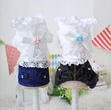 Clothes for Small Canine Pet Cat Costume Canine Jumpsuit Lace Pet Jacket Pet Garments XS S M L XL