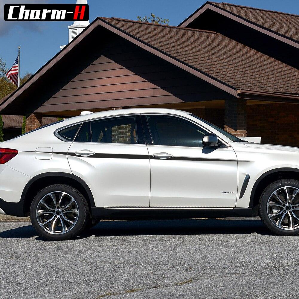 Autocollants de taille de style de voiture M rayures d'accent de Performance pour BMW X5 F15 F85 X6 F16 F86 autocollants graphiques en vinyle