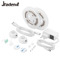 Jiaderui Motion Activated Sensor Double Bed Lights 2x1 2M LED Strip Sensor Night Light 12V Cabinet