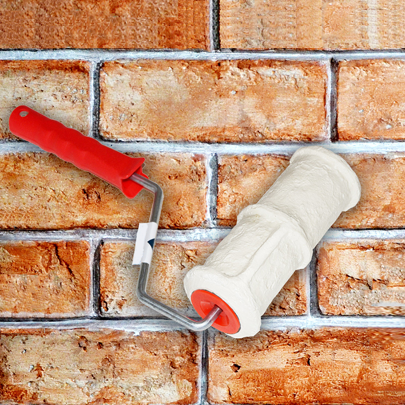 Pattern Paint Roller Polyurethane Tool Environmental Protection Stamp Roller Decorative Cylinder Imitate Stone For Wall