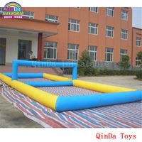 Free Air Pump Sports Game Volleyball Field On Beach 10m Long Inflatable Water Volleyball Court For
