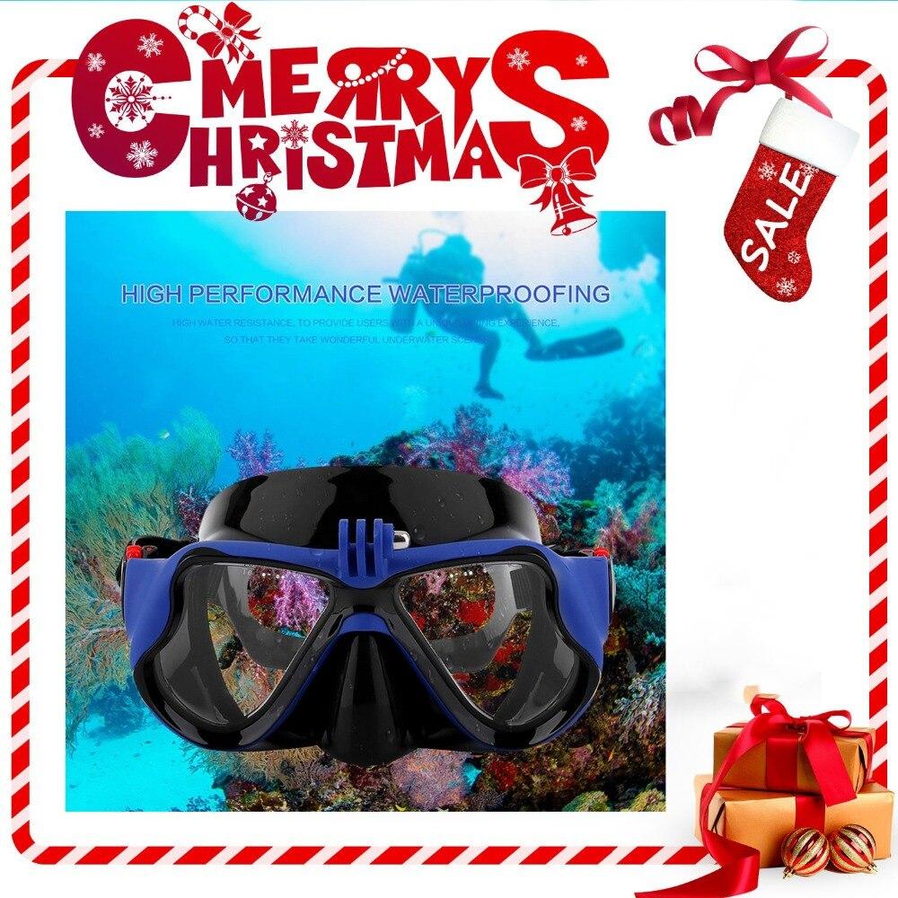 Caliente bajo el agua profesional Cámara máscara de buceo Snorkel gafas de natación para GoPro Xiaomi SJCAM CÁMARA DE DEPORTES DE DropShipping. exclusivo.