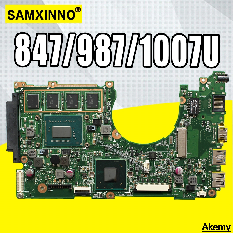 X202E Laptop motherboard REV2.0 for <font><b>ASUS</b></font> <font><b>X201E</b></font> S200E X202E <font><b>Q200E</b></font> Test mainboard test 100% ok 2GB RAM 847/987/1007U image