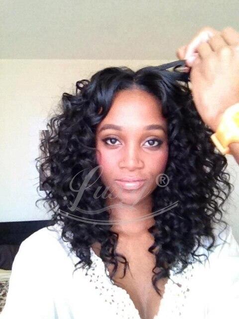 Glueless парики на сетке на всей площади для черный женщины парики на сетке спереди мелкие кудри кружево перед человеческий волос парики с младенцы волос