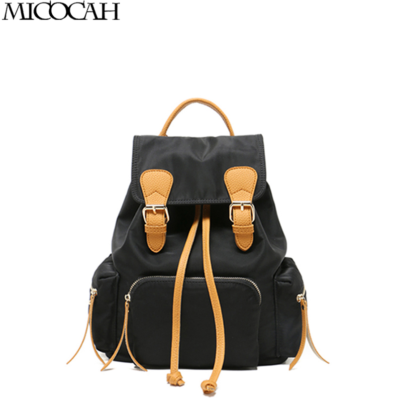 Micocah Backpack Student College Nylon Women Backpacks Material High Quality Brand Laptop School Bags Travel bags For Teenagers chic canvas leather british europe student shopping retro school book college laptop everyday travel daily middle size backpack