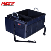 MAXTUF Stowing Tidying Car Trunk Organizer Collapsible Foldable Storage Bag Adjustable Box Car Interior Accessories MT649