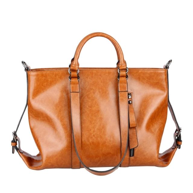 2017 fashion motorcycle bag star of wax cowhide vintage formal fashion women's big size designer genuine leather handbag