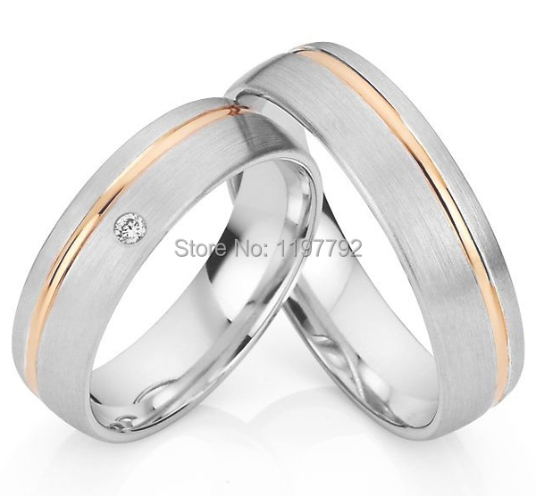 2014 custom tailor rose gold palting titanium engagement couple weddingring sets for men titan trauringe cheap discount custom tailor titanium engagement ring wedding band his and hers lover bridal rings sets titan trauringe