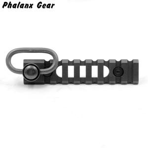 Image 3 - Tactical KeyMod Picatinny Weaver Rail Sections 8 Slots Mount Base with QD Sling Swivel Adapter For Hunting