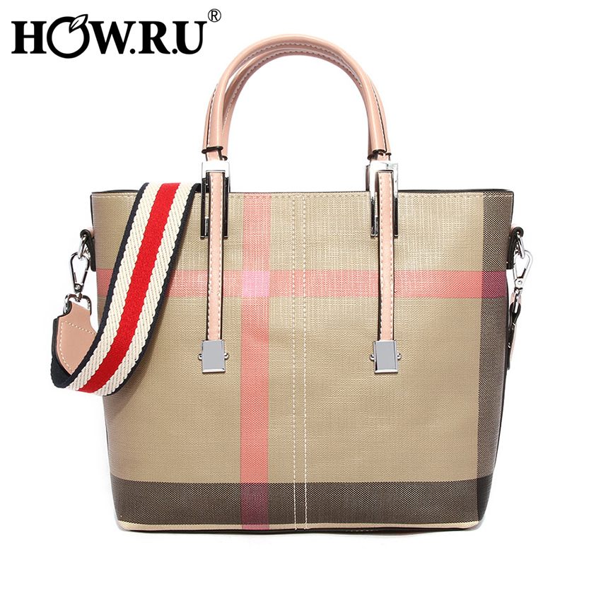 HOW R U Brand Luxury Designer Leather Tote Bag for Women High Quality Small Women Crossbody