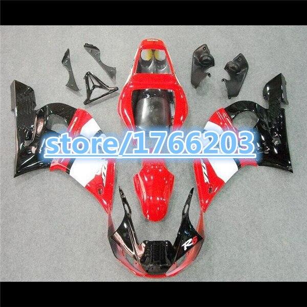 Kit de carénage supérieur pour YZF-R6 98-02 YZF R6 98 99 00 01 02 rouge blanc noir YZF 600 R6 1998-2002 pièces de carénage