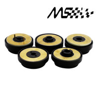 Racing Black Steering Wheel Boss Kit Hub Adapter For Honda Acura Mitsubishi Nissan Toyota
