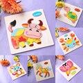 Bebé Niños De Dibujos Animados de Madera Animales Rompecabezas Tridimensional Juguete Obligan a Los Niños de Educación Rompecabezas Herramientas de Aprendizaje 14 Opciones Patten