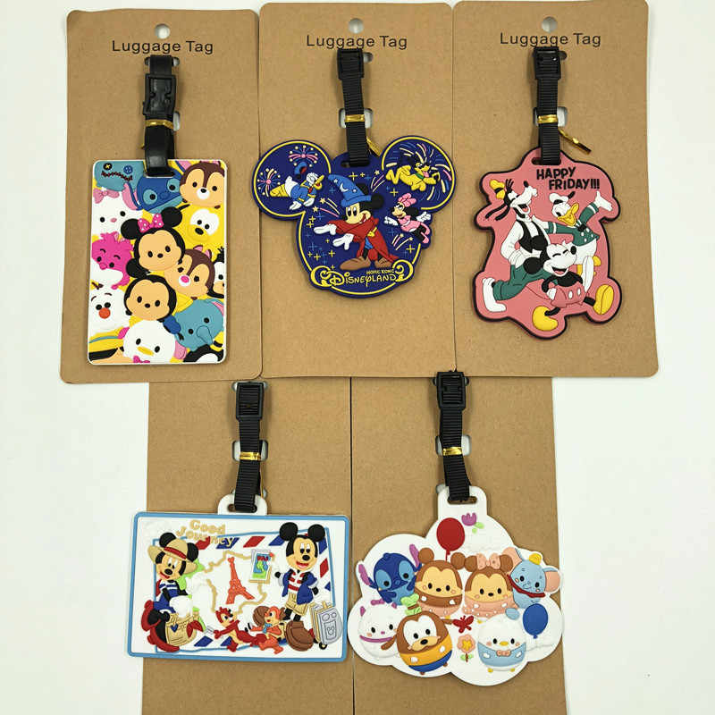 Disney cartoon Mickey Mouse Travel Accessoires reizen tag bagage Minnie Koffer ID Addres draagbare label hanger