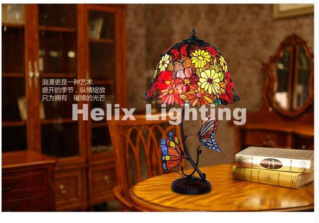 Recentemente tiffany lampada da tavolo per camera da letto colorata