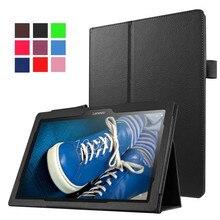 Caja de la tableta para Lenovo TB3-70F Tab3 10 para los Negocios/M 10.1 pulgadas de LA PU Cubierta de la Funda para Lenovo A10-30 X30F A10-70F Tab2/L + Film + Pluma