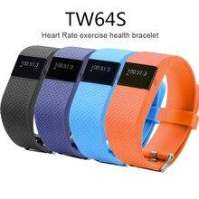 2016 New TW64S Pulso Inteligente Banda Pulse Measure Smart Band Sport Smart Wristband Health Fitness Tracker IP67 Heart Rate