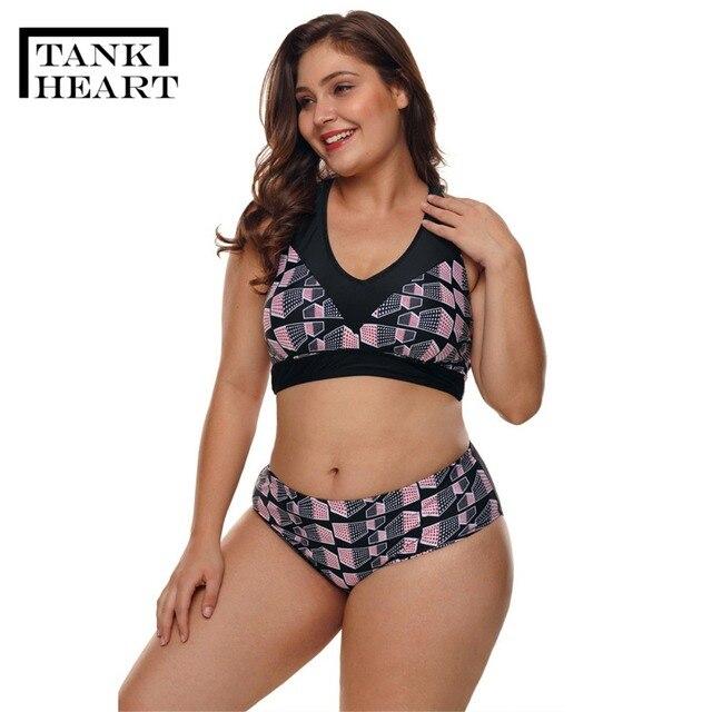 Tank Heart Print Sexy Bikini 5